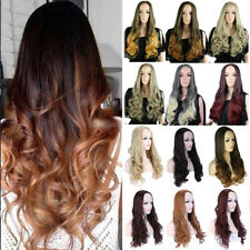 Long Curly Straight 3/4 Full Head Wigs Clip In Hairpiece Half Hair Style Wig Tg4