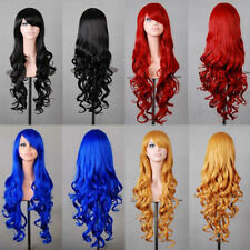 Lady 80cm Long Curly Wigs Fashion Cosplay Costume Hair Anime Wavy Party  Wig