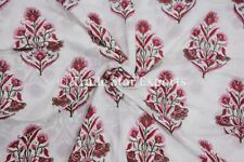 Indian Block Print Cotton Fabric By The Yard Handmade Cotton Fabric For Crafting