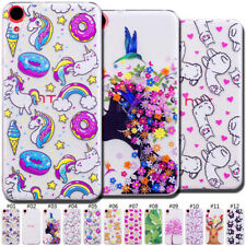 TPU Rubber Protective Soft Gel Clear Case Slim Cute Gel Cover Back Skin For HTC