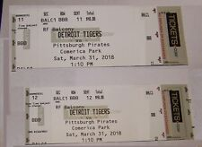 2 Tickets For Detroit Tigers vs Pittsburgh Pirates at Comerica Park