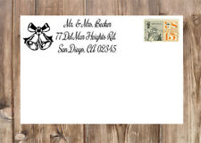 Personalized Christmas Holiday Bells Self-Inking Rubber Return Address Stamp