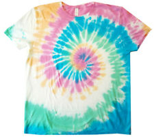 Tie Dye T-shirt Men's (SIZES) hand dyedcolors Blues Yellows Pinks Greens NEW!
