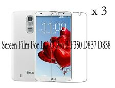 3 Glossy Matte Screen Protector Film Cover For LG Optimus G Pro 2 F350 D837 D838