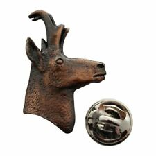 Pronghorn Head Pin ~ Antiqued Copper ~ Lapel Pin