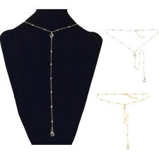 Crystal Chain Pendant Choker Necklaces Lariat Y Shape Jewelry for Women