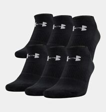 Under Armour Men's UA Charged Cotton 2.0 Performance No Show 6 Pack of Socks