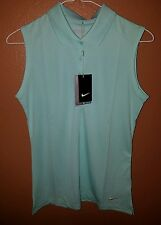 Nike Dri-Fit Victory Sleeveless Golf Polo Size S & XL # 640371 370 MSRP $45