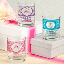 50 Personalized Label Glass Shot Glasses Or Votive Candle Holder Party Favors