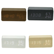 Portable Easy Digital Home Alarm Clock Student LED Light Temperature Display