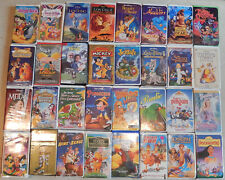 Lot of 32 VHS Childrens Movies Walt Disney and More in Clamshell Cases Dr. Seuss
