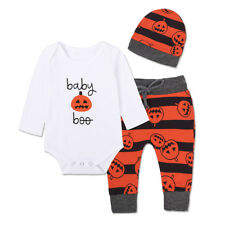 Baby Girl Boy Rompers Clothes Toddler Unisex Long Sleeve Cotton Bodysuit New