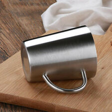 Durable Stainless Double Walled Insulated Water Cup Coffee Mug With Handle