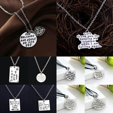 Inspiration She Believed She Could Necklace Pendant Jewelry Charm Heart Spirit