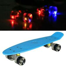 4 Colours Retro Mini Skate Board Complete LED Wheels Skateboard Cruiser New