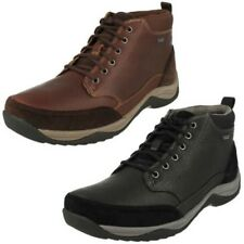 Mens Clarks Goretex Leather Waterproof Lace Up Boots - Baystone Top GTX