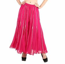 Women Stylish Flared Solid Regular Fit Stretchable Georgette Palazzo Pants