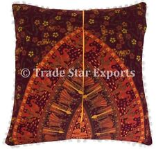 Indian Elephant Mandala Cushion Cover Set Decorative Square Throw Pillow Cases