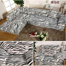 Zebra Pattern Arm Chair Loveseat Sofa Protector Cover Slipcover 1/2/3/4 Seater