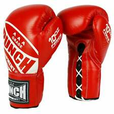 PUNCH Competition Boxing Lace Up Professional Boxing Gloves