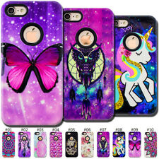 Hard&Soft Hybrid Painted PC&TPU Varnish Embossed Case Cover For Apple iPhone 7/8