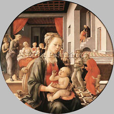 LIPPI FRA FILIPPO VIRGIN CHILD SCENES FROM LIFE ST ANNE ARTIST PAINTING CANVAS