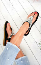 IKRUSH Women's Monika Clustered Sequin Embellished Sandals Size  in BLACK Size