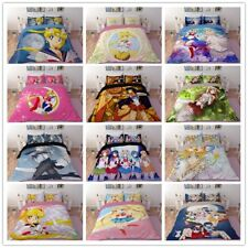 3D Print Sailor Moon Bedding Set Comforter Duvet Cover Quilt Pillowcases 3pcs