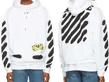 OFF-White spray painted hoodie white sweatshirt pullover hoodie for men women M