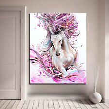 DIY Painting By Numbers Hand Paint Abstract Horse Animal Oil Pictures Pink