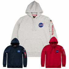 Alpha Industries Men's Hoody Space Shuttle Hoodie Pullover Nasa S to 3XL New