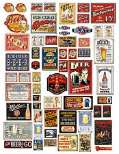 1: 24 1:18 VINTAGE BAR BEER SIGN DECALS FOR DIECAST & MODEL CARS  DIORAMAS