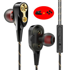 3.5mm Sports Bass Music In ear Stereo Headphone Headset Earphone Earbuds W/Mic