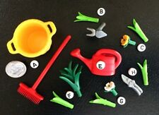 M~6558~Hoe~Pruning Shears~Water Can~Plants~CHOOSE 1 PLAYMOBIL MINI~Dollhouse