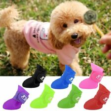 Creative Pet Dogs Lovely Comfortable Waterproof PVC Boots Soft Rain Shoes QW