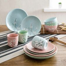 Japanese Style Ceramic Dining Plate Dish Bowls Cup Mug Tableware Dinner Set