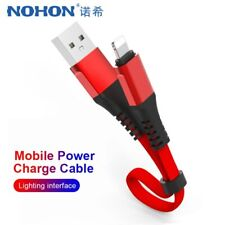 NOHON Short USB Charge Data Cable Lighting For iphone XS XR X 8 7 6 6S 5S 5C 5