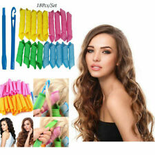 18Pcs 30cm + 20cm Magic Long Hair Curlers Curl Formers Leverage Rollers Spiral
