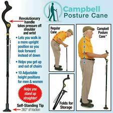 Campbell Posture Cane Walking Cane with Adjustable Heights Elderly Walking Stick