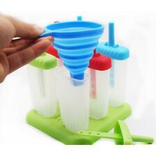 6pcs Reusable Safe Ice Molds Popsicle Molds Set With Folding  BPA Free Ice Molds