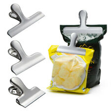 Food Storage Stainless Steel Chip Bag Clips 2/3/4 inch width DurableCA