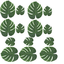 54Pcs Artificial Plant Tropical Palm Monstera Leaves Tropical Imitation Green FD