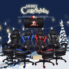 Swivel Racing Gaming Office Chair Ergonomic Recliner Footrest Christmas Gift US