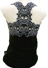 ROCKABILLY PUNK ROCK BABY ™ Emo Tiki Skull Tattoo TANK TOP SHIRT XS/S/M/L/XL/XXL