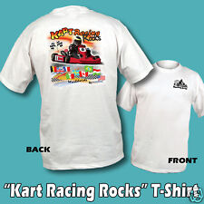 Kart Racing Rocks T-Shirt white 5 Adult sizes go kart