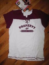 "NWT CAPEZIO FRONTLINE DANCE TOPS LADIES JERSEYS HIPHOP ""property of dance team"""