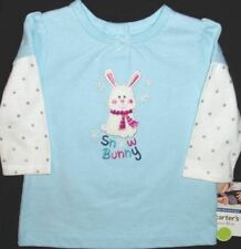 Bunny T Shirt Top Carters Easter Toddlers Long Sleeve Tee Children Infants GIRLS