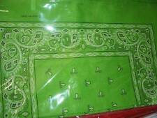 Green Lot wholesale 1 dozen 12 Bandanas head wrap scarf 100% cotton