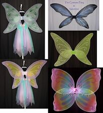 FAIRY WINGS Halloween Costume Tinkerbell Fae LOTR Gothic Glitter CHOICES Adult