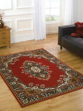 Traditional Rugs Carpet Red & Navy in Various Sizes Rug